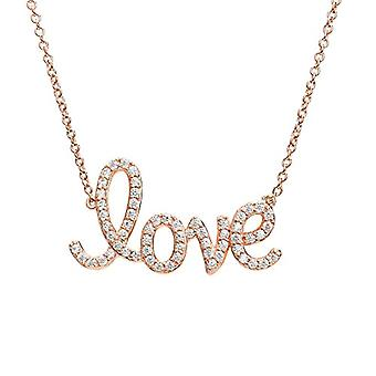 Eye Candy ECJ-NL0078 Women's Collier, in Sterling 925 silver, with rose gold plating, pendant with the words 'Love with 61 Ref. 4045425027801