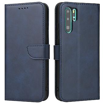 Flip folio leather case for honor 20 blue pns-1310