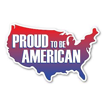 מגנט, גאה להיות מגנט אמריקאי (בצורת ארצות הברית), 8 אינץ' X 5 אינץ'