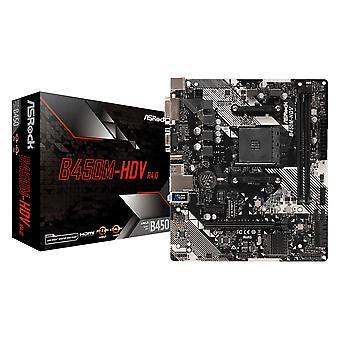 アスロック B450M-HDV R4.0 マザーボード ソケット AM4 マイクロ ATX AMD B450