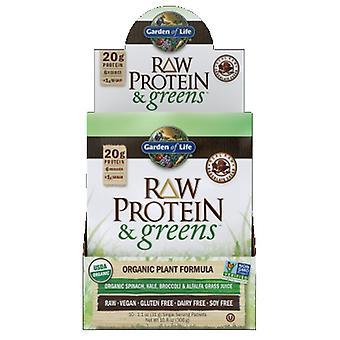 Garden of Life Rå Protein og Grønne, Chokolade 1 Bakke