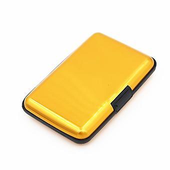 Titular de la tarjeta para 6 tarjetas aluminio oro