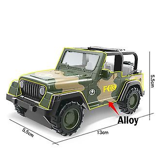 13Cm simulation military armed tank armored vehicle alloy metal car toy for children's