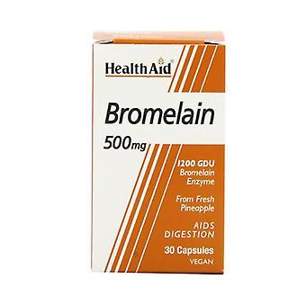 HealthAid Bromelain 500mg Vegicaps 30 (803065)