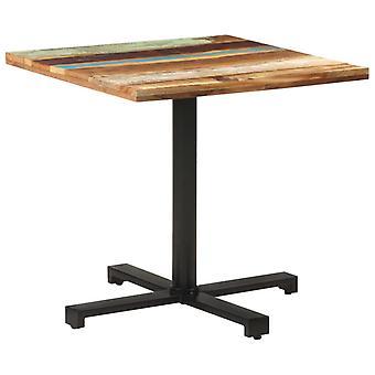"""שולחן ביסטרו vidaXL ריבוע 80x80x75 ס""""מ עץ ממוחזר מוצק"""