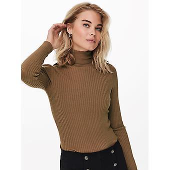 ONLY Womens Turtleneck Sweater Fine Knit Sweater Stretch Top ONLKAROL NOOS