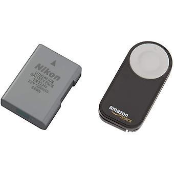 Lithium-Ionen Akku VFB11402 & Amazon Basics IR-Fernauslöser für SLR-Digitalkameras
