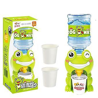 Mini distributore d'acqua educativo bambino dispenser d'acqua giocattolo (rana)