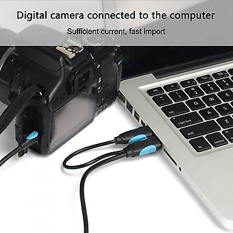Vention A61 Mini Usb Dual Usb 2.0 Power Supply Data Charger And Transfer Cable