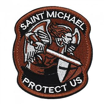 Saint Micheal Badger Military Tactical Army Morale Combat Multicam Patch