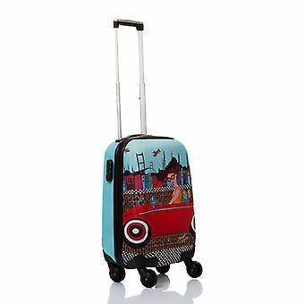 Biggdesign Cabin Size Suitcase, 18 inch 100% ABS Canvas Printed Design