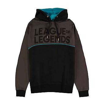 League Of Legends Hoodie Logo new Official Mens Black Pullover