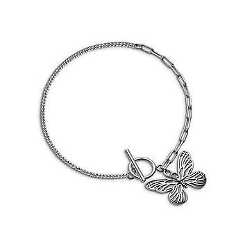 2PCS hopea pinnoitus butterfly riipus rannekoru naisille vintage yksinkertainen rannekoru tyylikäs syntymäpäivä