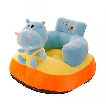 Blauwe Hippo Cartoon Kleine Bank