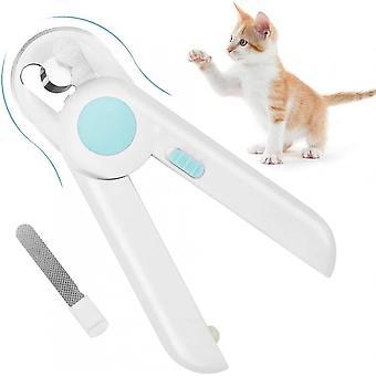 Tagliaunghie e trimmer per cani da gatto, tagliaunghie per animali domestici con luce a led, per la cura degli artigli dei piccoli animali