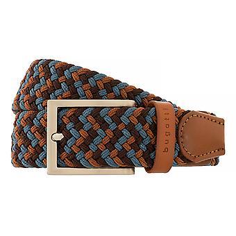 bugatti Belt Men's Belt Textile Belt Leather Belt Cognac/Blue 5231