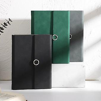 A5 Loose Leaf Pu Leather Notebook, Chip Planner, Refillable Paper, Creative School Stationery
