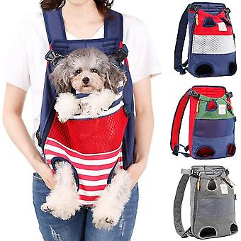 Dog Backpack - A Pet Backpack With The Legs Facing Forward, Suitable For Small And Medium-sized Dogs, Hands-free Travel Bags For Cats, Approved By Air