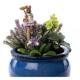 Cane Companions Beatrix Potter Hunca Munca Stake Topper Colorful Ornament
