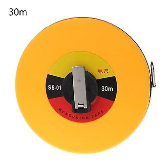 Fiber measuring tape 10/30m hand-held disc flexible ruler wind up measure