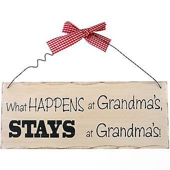 Noget andet hvad der sker på Grandmas hængende tegn