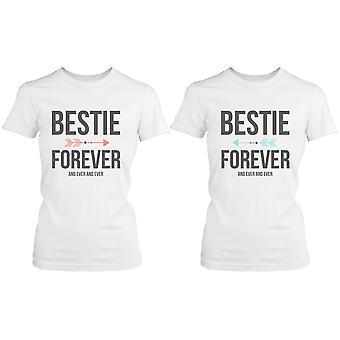 Paras ystävä paidat - Bestie aina ja ikuisesti Matching valkoinen t-paidat