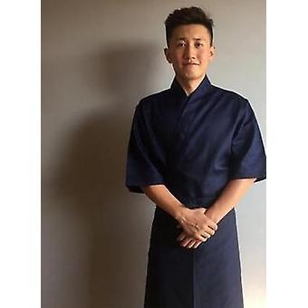 Chef Uniform Japanese Cuisine Jacket Sushi Shirt Summer Cotton