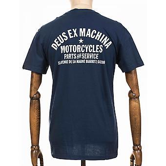 Deus Ex Machina Biarritz Adress Tee - Navy