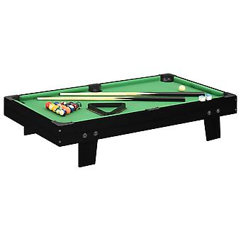 1-metrin minibiljardipöytä 92x52x19 cm musta ja vihreä