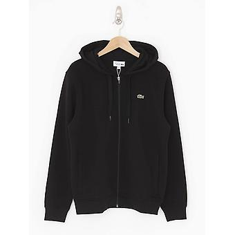 Lacoste Lightweight Double Material Hooded Sweat - Black