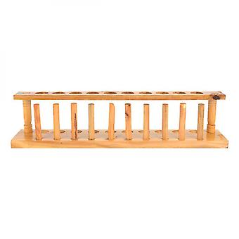 Durable And Strong Wooden Hole Test Tube Stand Chemical Laboratory Tool