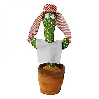 120 Songs dancing singing mimicking cactus toy plush in pot early education birthday gift mz701