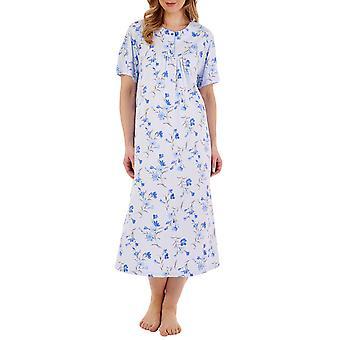 Slenderella ND88106 Dámské květinové bavlněné noční šaty