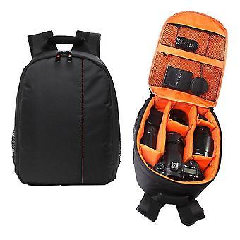 Camera lens zoom units orange waterproof camera dslr lens backpack case bag adjustable padded divider