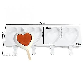 Craft molds 8/4/1 hole silicone ice cube mold diy dessert ice cream mold heart shape