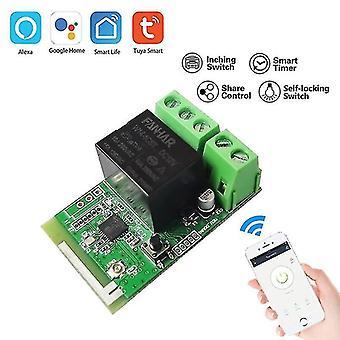 Motherboards tuya single-way wifi relay module remote wireless door lock switch time delay relay smart life app