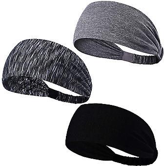 3pcs Sports Headband, Running Wicking Headband, Men's And Women's Yoga, Cycling, Basketball, Bicycle, Fitness