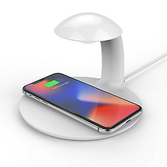 Zikko Zw8011 2in1 10w Wireless Intelligent Charger With Mood Adjustable Led Night Light Lamp For Samsung Iphonex