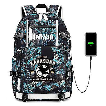 プリントバックパックUSB充電大容量学生用学校バッグ
