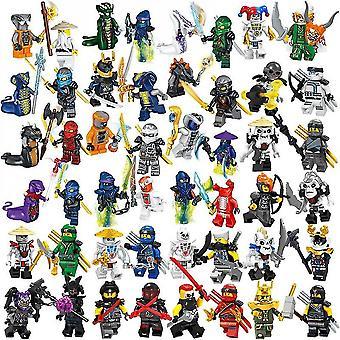 36 Fantom Ninja Figurer Samling Med Våpen Barn Montert Byggekloss Minifigur Leker