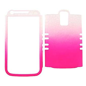 Unlimited Cellular Rocker Snap-On Case pour Samsung Galaxy S2 Hercules T989 - Cuir Fiinish White / Pink Egg Crack