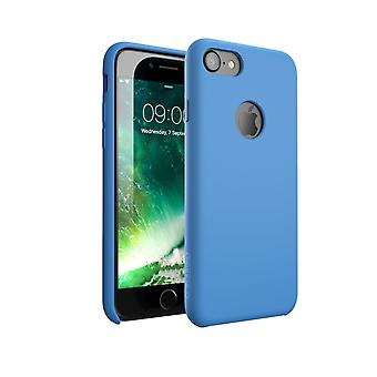 i-Blason-iPhone 7 Case, Silicone [Flexible] Case-Shock Absorbing-Blue