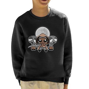 Shuffle And Slice Michonne Walking Dead Kid's Sweatshirt