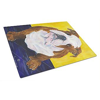 Carolines Treasures  SS8415LCB English Bulldog Glass Cutting Board Large