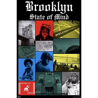 Notorious BIG - Brooklyn State Poster Poster Print