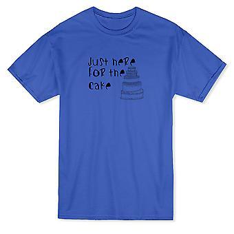 """""""Bara här för kakan"""" bröllop roliga citat mäns T-shirt"""