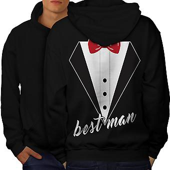 Wedding Time Men BlackHoodie Back | Wellcoda