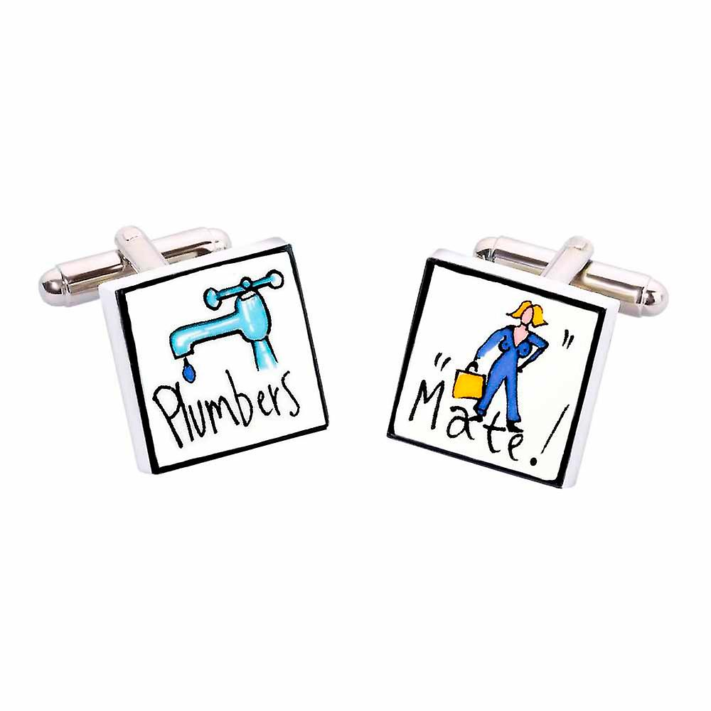 Plumbers Mate Cufflinks by Sonia Spencer, in Presentation Gift Box. Plumbing