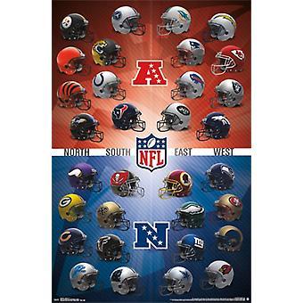 NFL - hjälmar 15 affisch Skriv