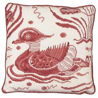 Pink Duck - Left Facing Needlepoint Kit
